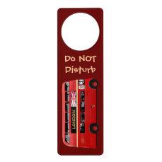 Customized London Red Bus Door Hanger