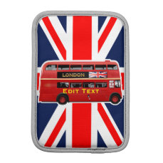 Customized London Red Bus iPad Mini Sleeve
