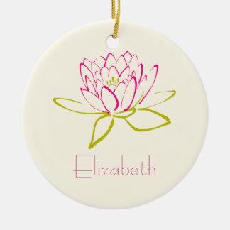 Customized Lotus Flower Ceramic Ornament