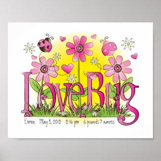 Customized Love Bug Lady Bug Girls Room Wall Art