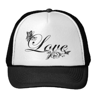 Customized Love Text with Butterflies Mesh Hats