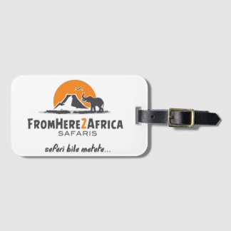 Customized luggage tag with business card slot