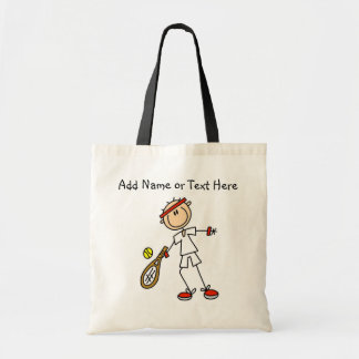 Customized Male Tennis Player Tote Bag