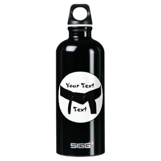 Customized Martial Arts Basic Black Belt Water Bottle