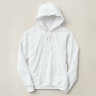 Customized Men's Embroidered Basic Pullover Hoodie