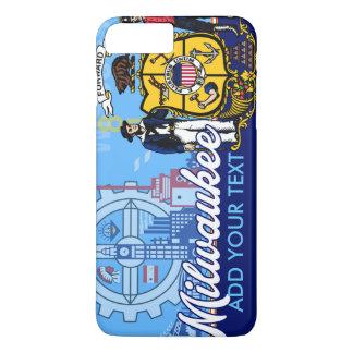 Customized Milwaukee Wisconsin Flag iPhone 8 Plus/7 Plus Case