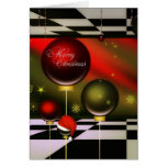 Customized Modern Art Christmas Card