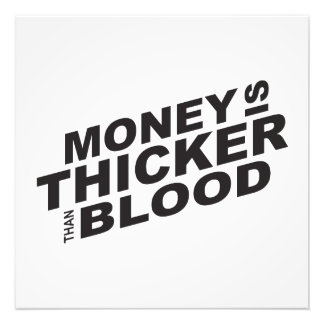 Customized Money is Thicker Than Blood Card Mugs Photo Art