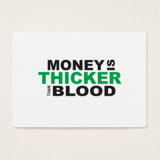 Customized Money is Thicker Than Blood Stamp Label Business Card