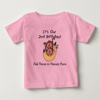 Customized Monkey Twin Boy and Girl Tshirt