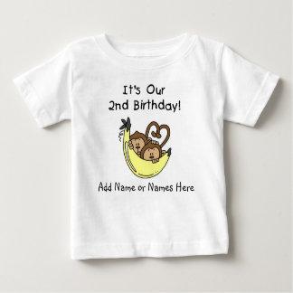 Customized Monkeys Twin Boys Tshirt