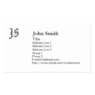 Customized Monogram Business Cards
