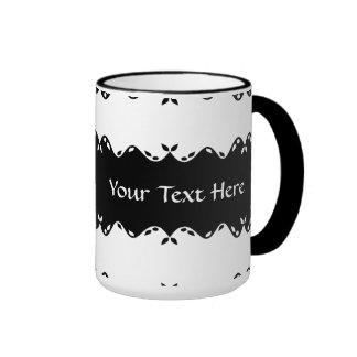 Customized Monogram Design Ringer Coffee Mug