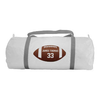 Customized Monogram Name and Number Football Duffle Bag