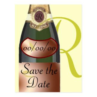 Customized Monogram Save the Date Postcards