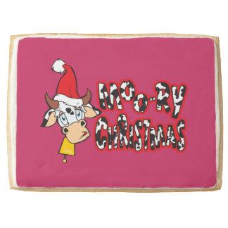 Customized Moory Moo Christmas Cow Bell Apron Jumbo Cookie