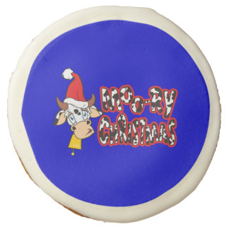 Customized Moory Moo Christmas Cow Bell Apron Sugar Cookie