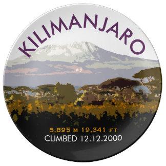 Customized Mount Kilimanjaro Climb Commemorative Plate