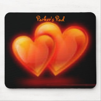customized mouse pad with love