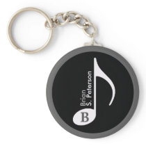 customized musical note keychain