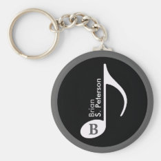Customized Musical Note Keychain at Zazzle