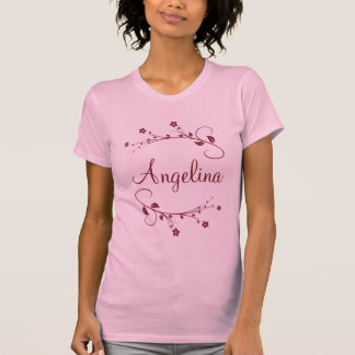 Customized name and flowers of spring tee shirt