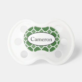 Customized name Celtic pattern baby pacifier
