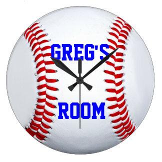 Customized Name Location Baseball Wall Clock