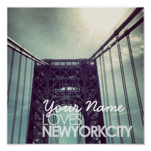 Customized Name Loves New York City Poster