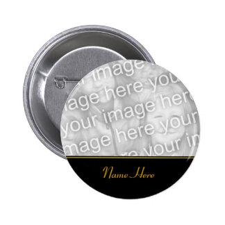 Customized Name Memorial Photo Button