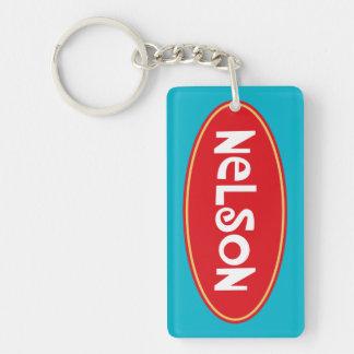 Customized name NELSON Double-Sided Rectangular Acrylic Keychain