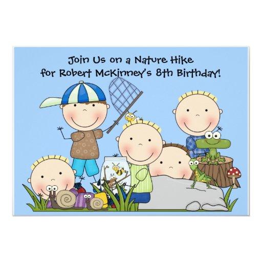 Customized Nature Hike Birthday Invitation