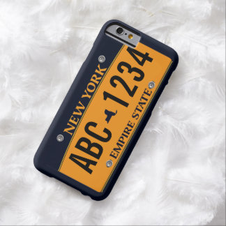 Customized New New York Vehicle Licence Plate Barely There iPhone 6 Case