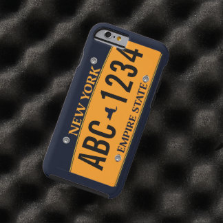 Customized New New York Vehicle Licence Plate Tough iPhone 6 Case