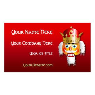 Customized Nutcracker King Cartoon Business Card