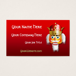 Customized Nutcracker King Cartoon Business Card