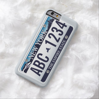 Customized Old New York Vehicle Licence Plate Barely There iPhone 6 Case