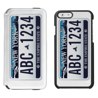 Customized Old New York Vehicle Licence Plate iPhone 6/6s Wallet Case