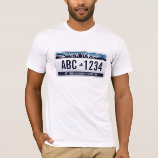 Customized Old New York Vehicle Licence Plate T-Shirt