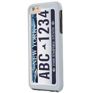 Customized Old New York Vehicle Licence Plate Tough iPhone 6 Plus Case