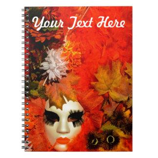 Customized Orange Carnival Costume Notebook