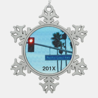 Customized Pacific Coast Highway 1 Sign California Ornament