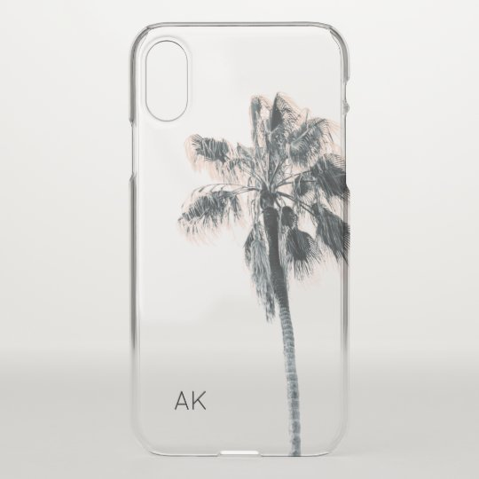 check out 61177 d0f01 Customized Palm Tree iPhone X case - clear