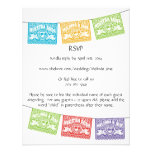Customized Papel Picado Love Birds RSVP Personalized Invitation
