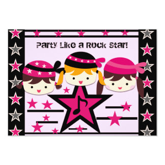 Customized Party Like a Rock Star Birthday Invite