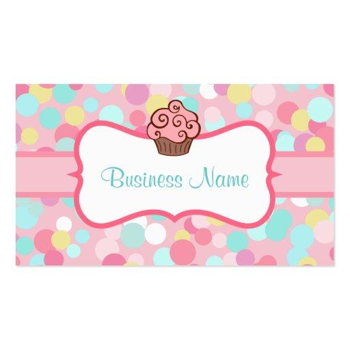Customized Pastel Cupcake Business Card