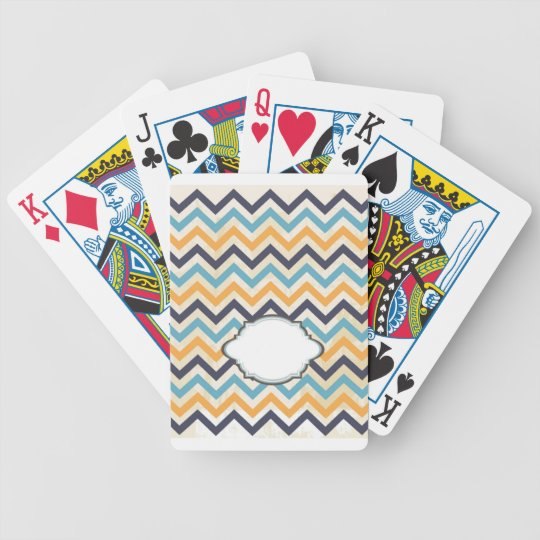 Customized Pattern Monogram Bicycle Playing Cards
