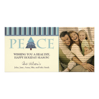 Customized Peace Happy Holidays Design :: 01 Card