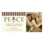 Customized Peace Happy Holidays Design :: 05 Photo Cards