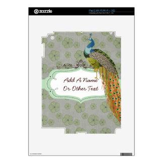 Customized Peacock Apple iPad Skin